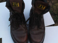 Caterpillar Boots Dark Brown size 8 and half