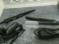 Hair straighteners & hair wond
