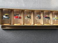 Retro vintage cars shot glasses