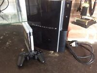 PS3, plus 2x games and wireless controller.
