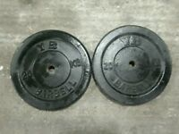 Weights 2x 20kg and bars