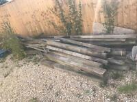 Fencing posts and rails - free to good home