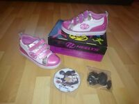 Boxed Heelys Sparkle White/Pink/Silver UK 1