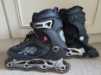 Women's K2 Freedom Inline Skates - Black/Purple - Size UK 7 - Hardly used
