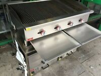 NEW GAS 4 BURNER GRILL CATERING COMMERCIAL KITCHEN CAFE KEBAB CHICKEN SHOP BBQ