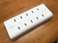 Belkin USB A 10 Port Fast Charger. Can charge ten devices at once.