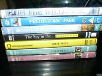 7 WILDLIFE PROGRAMMES DVDs, nature documentaries, animals, dinosaurs