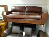 Great tan leather sofa