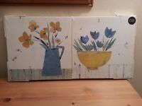Set of 2 Next Canvas prints still in original packaging