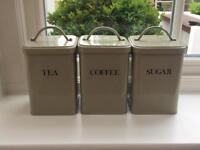 Garden Trading Canister Tea Coffee and Sugar Set