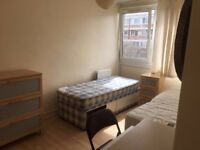 Large Twin Room Share for 1 Person Available in Flat Share