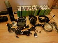 Xbox 360 250gb slim with 40 games and acessories