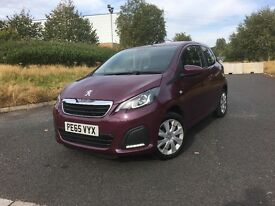 """2015 (65) PEUGEOT 108 ACTIVE 1.0 PETROL 3DR """"£0 ANNUAL ROAD TAX + DRIVES LIKE NEW + MUST BE SEEN"""""""