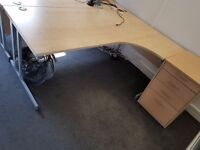 2 x large office desks without pedestal. Very good condition