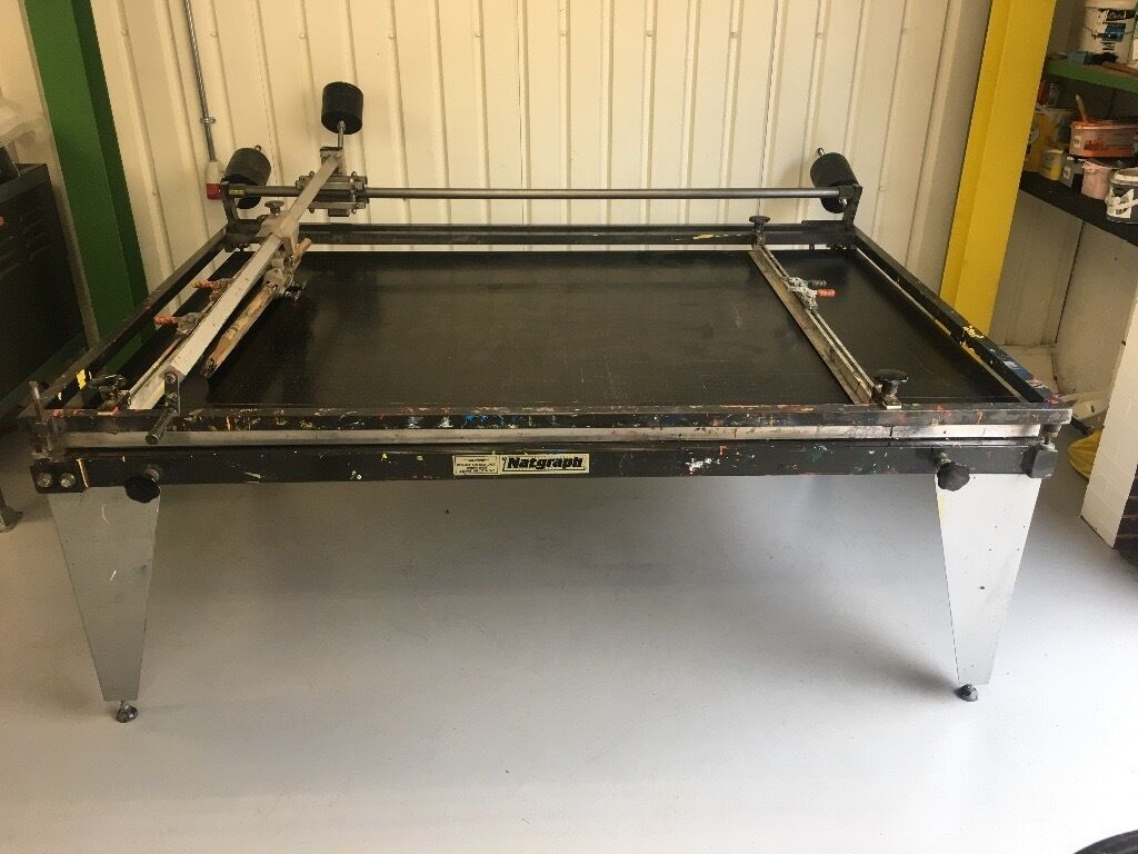 how to build a screen printing table