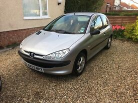 Peugeot 206 for sale, only 51,000 miles!