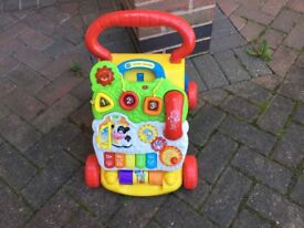 V tech baby walker excellent condition £14 also in pink can deliver if local call 07812980350