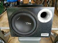 Fly active subwoofer for sale, cables included