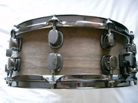 "Mapex mahogany-ply prototype snare drum - 14 x 5 1/2"" - Ex- Oasis - early '00s"