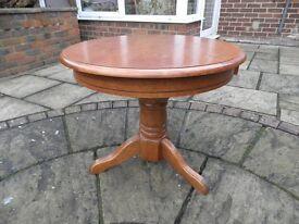 Solid Wood circular coffee table