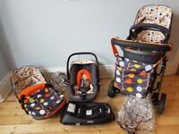 Cosatto Giggle Fable 3 in 1 Travel System plus car seat, isofix base
