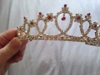 RED GEM STONE TIARA