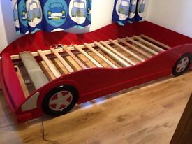 Children's racing car bed