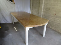 Granite table /island/worktop - large size, custom made base. Perfect condition.