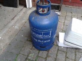 Calor Gas 15kg Butane Empty Gas Canister Bottle/ Cylinder, HALF FULL