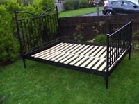 CAN DELIVER - IKEA DOUBLE BED FRAME IN VERY GOOD CONDITION