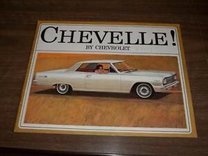 BROCHURE AUTO CHEVELLE ( 1964 )