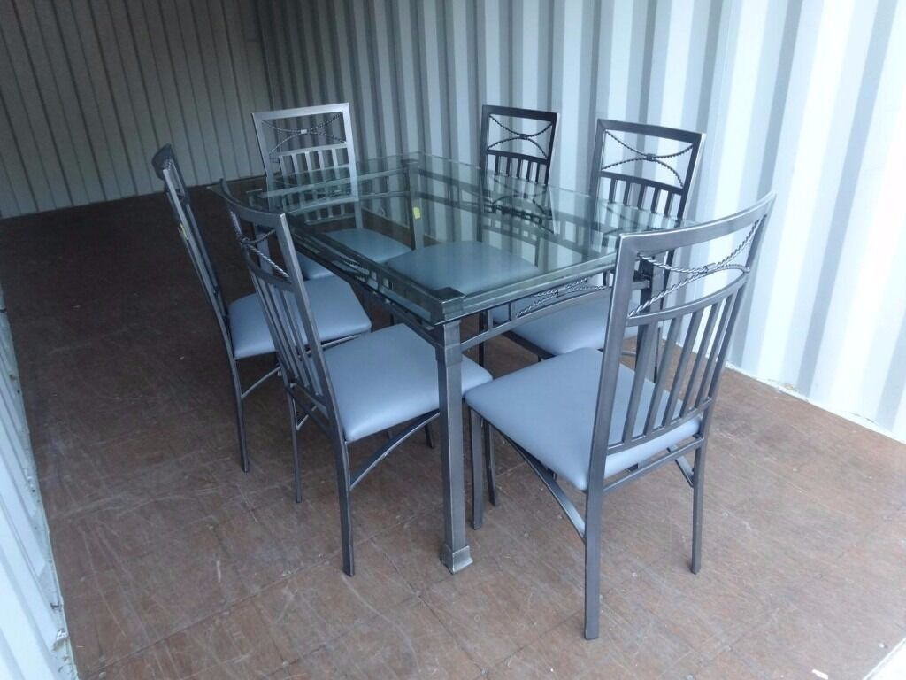 Table With 6 Chairs,Very Good Condition-Can Deliver