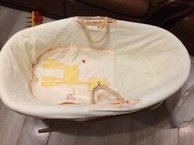 Baby mosses basket with folding stand from Mothercare