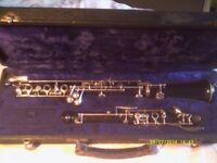 AN OBOE , IN EXCELLENT CONDITION in a CASE WITH SOME REEDS ++ ++ ++ ++ ++
