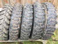 Land Rover Series 1 2 2A 3 6.50 x 16 Tyres Michelin XCL Firestone SAT Military