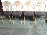 Four metal framed chair's