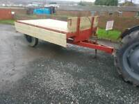 Tractor tipping trailer just had new wooden floor and sides has aluminium crossers