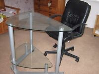 Computer Desk/Table and Office Chair