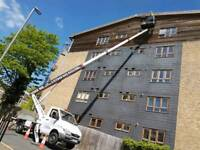 Gutter cleaning services+ cherry picker Hire