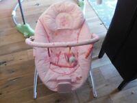pink baby seat rocker & music