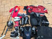 Ice hockey full equipment