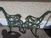 Cast iron summer seat ends