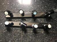 2 sets of spotlights