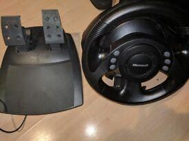 Microsoft sidewinder racing wheel