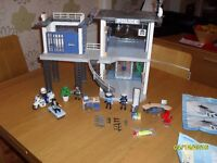 Playmobil Police Station/Jail and Police Motorbike plus instructions
