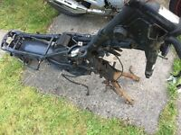 Yamaha YBR 125 2008 frame with V5. Includes wiring loom and centre stand