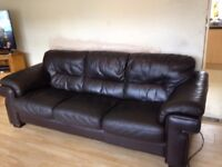 Large Brown leather Sofa,