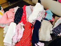 Over 50 items of baby girls clothes 0-3months