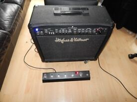 Hughes & Kettner Switchblade 50w all valve combo, footswitch, castors and cover