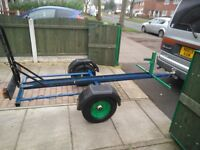 Single Bike Trailer complete with ramp lights and spare wheel ready to go.